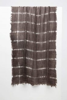 Open Weave Scarf - Cafe- Kinross Cashmere