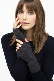 Cable Fingerless Gloves - Kinross Cashmere