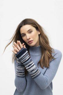 Wave Stitch Fingerless Gloves - Kinross Cashmere