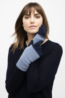 Colorblock Gloves - Kinross Cashmere