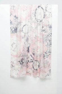 Tie Dye Print Scarf - Blossom - Kinross Cashmere