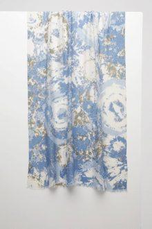 Tie Dye Print Scarf - Harbor - Kinross Cashmere