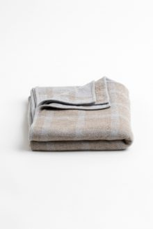 Double Knit Check Throw - Kinross Cashmere