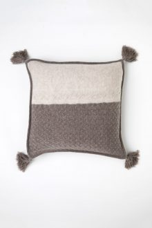 Colorblock Cable Pillow Cover - Kinross Cashmere