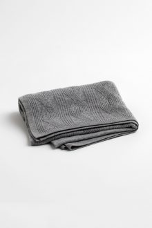 Geo Cable Throw - Kinross Cashmere