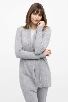 Double Trim Short Robe - Kinross Cashmere