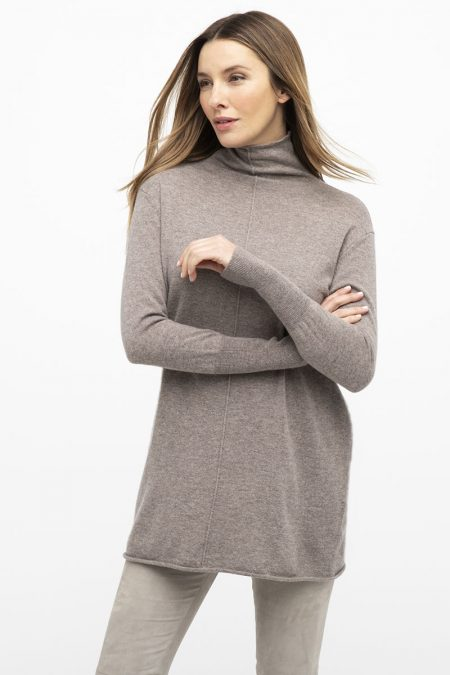 Easy Funnel Tunic - Kinross Cashmere
