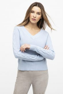 Cable Raglan Pullover - Kinross Cashmere