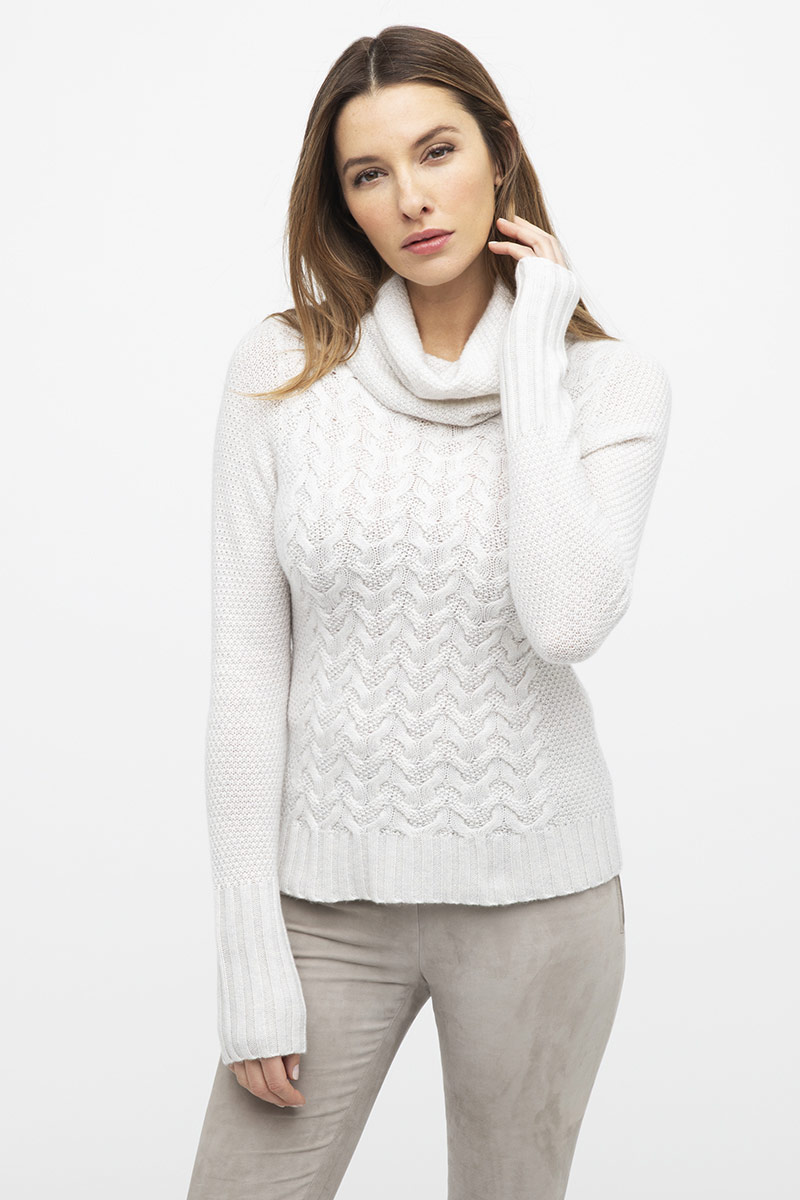 Luxe Cable Cowl - Kinross Cashmere