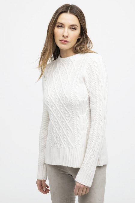 Cable Hi Low Funnel - Kinross Cashmere