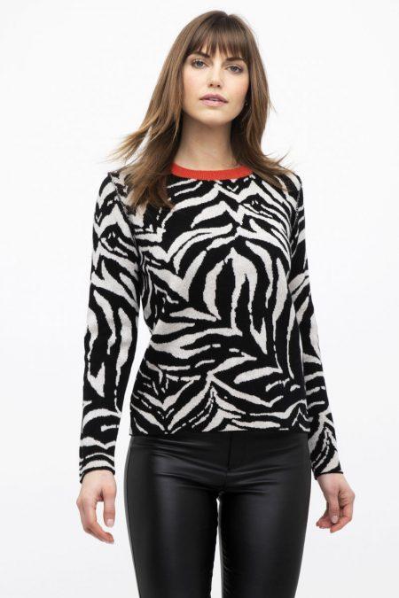 Reversible Tiger Pullover - Kinross Cashmere