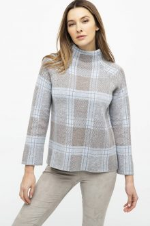 Plaid Funnel - Kinross Cashmere