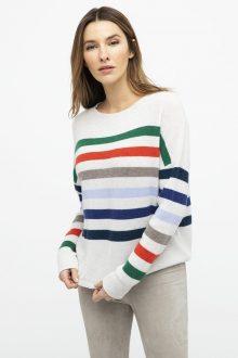 Rib Stripe Pullover - Kinross Cashmere