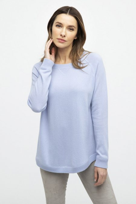 Round Hem Sweatshirt - Kinross Cashmere