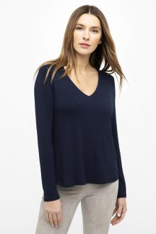 Double Layer Hi-Low Vee - Kinross Cashmere