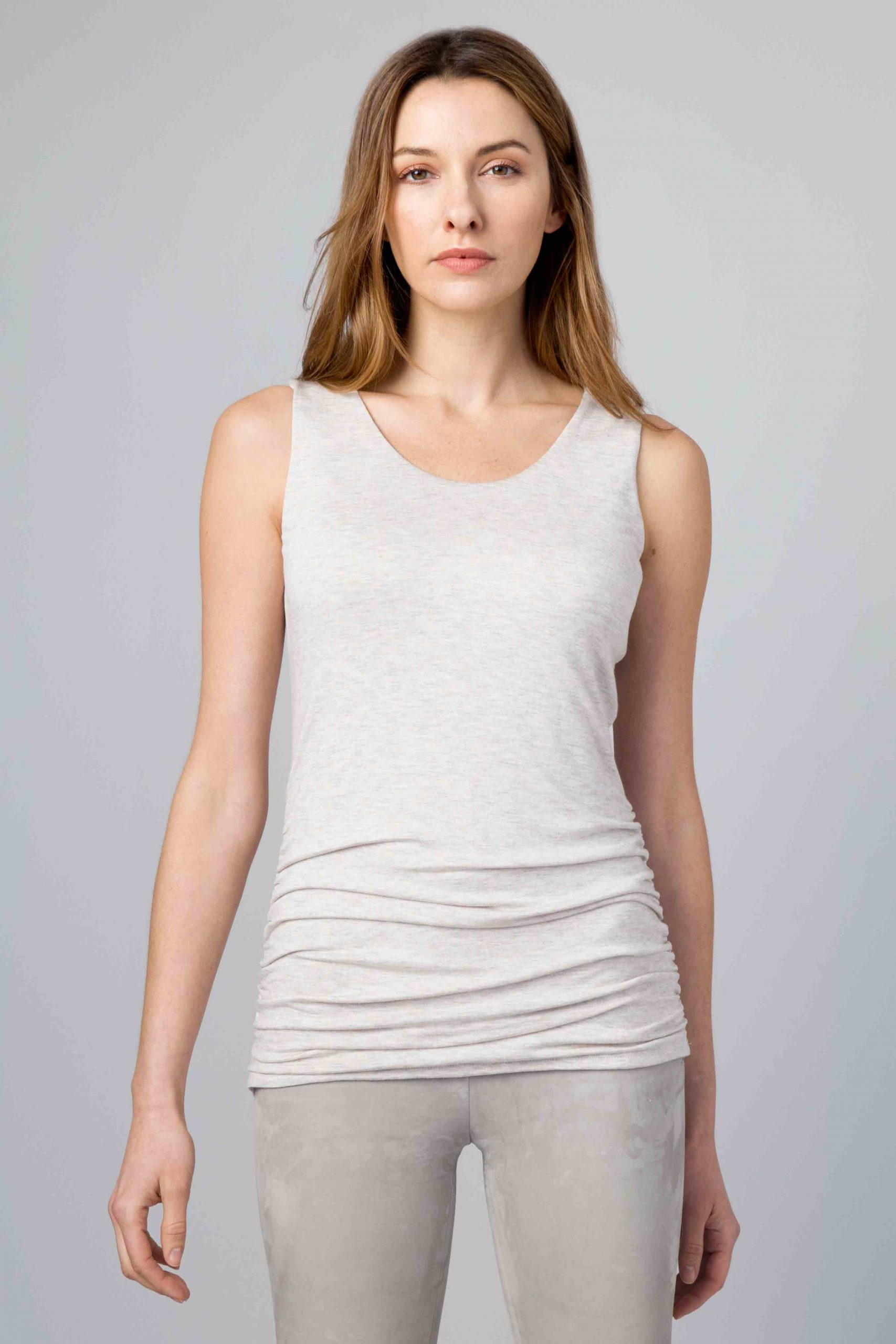 Ruched Tank - Kinross Cashmere