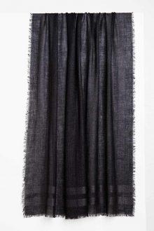 Shimmer Shawl - Black - Kinross Cashmere