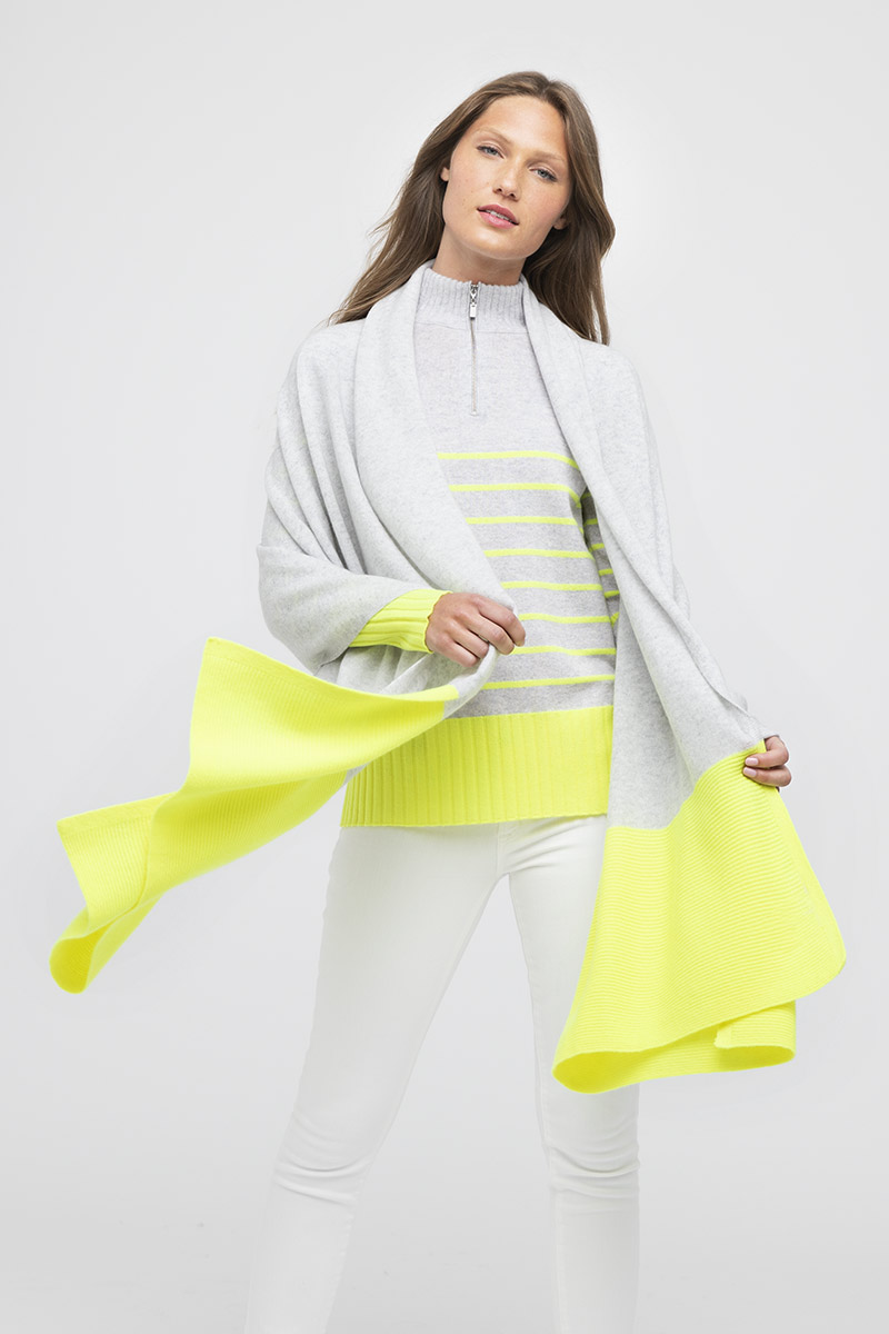 Colorblock Travel Wrap - Kinross Cashmere