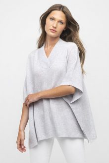 Crossover Vee Poncho - Kinross Cashmere