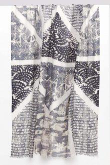 Louvre Print Scarf - Gris Multi - Kinross Cashmere