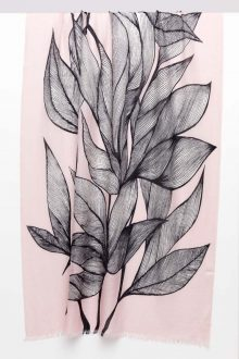 Botanical Leaf Print Scarf - Petal Multi - Kinross Cashmere