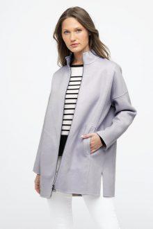 Modern Zip Mock Coat - Kinross Cashmere