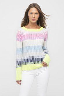 Plaited Stripe Boatneck - Kinross Cashmere