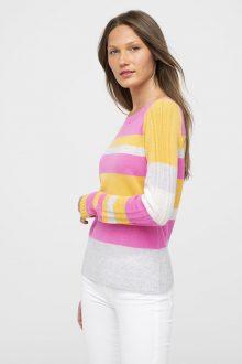 Multi Stripe Pullover - Kinross Cashmere