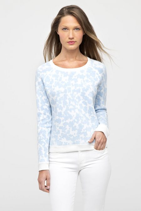 Reversible Floral Crew - Kinross Cashmere