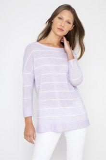 Breton Stripe Pullover - Kinross Cashmere