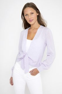 Tie Front Cardigan - Kinross Cashmere