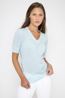 S/S Tipped Vee - Kinross Cashmere