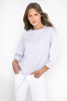 Gathered Sleeve Sweatshirt - Kinross Cashmere
