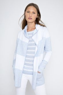 Reversible Wide Stripe Hoodie - Kinross Cashmere