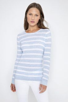 Thermal Stripe Crew - Kinross Cashmere