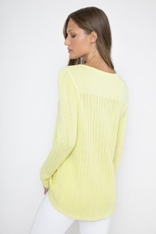 Rib High Low Crew - Kinross Cashmere