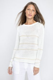 Simple Stripe Pullover - Kinross Cashmere