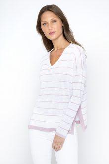 Easy Stripe Vee - Kinross Cashmere