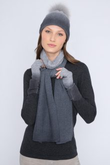 Ombre Hat, Scarf, Gloves - Kinross Cashmere