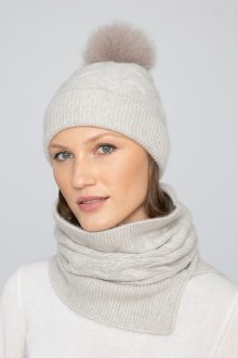 Luxe Cable Hat - Kinross Cashmere