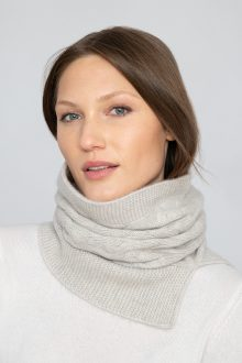 Luxe Cable Neckwarmer - KInross Cashmere