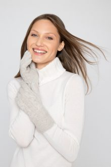 Luxe Cable Gloves - Kinross Cashmere