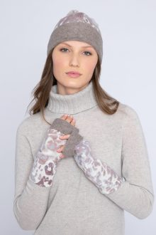 Leopard Glove - Kinross Cashmere
