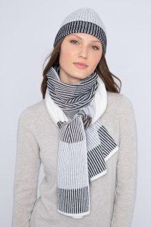 Plaited Colorblock Scarf & Hat - Kinross Cashmere