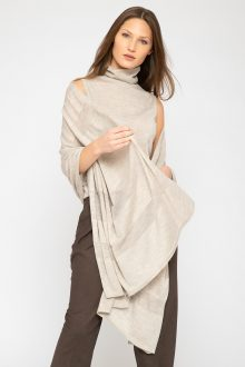 Shadow Stripe Wrap - Kinross Cashmere