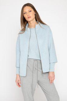 Short Zip Mock Jacket - Kinross Cashmere