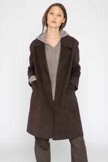 Notch Collar Coat - Kinross Cashmere