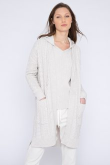 Hi Low Cable Cardigan - Kinross Cashmere