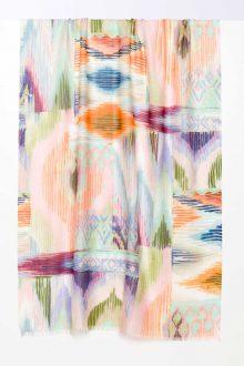 Island Ikat Print Scarf - Agave - Kinross Cashmere