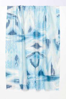 Island Ikat Print Scarf - Reef - Kinross Cashmere